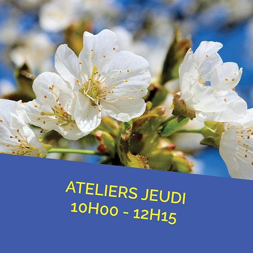 Atelier jeudi 21 avril de 10h00 à 12h15