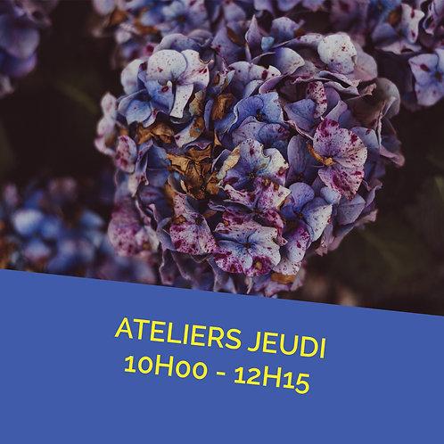 Atelier jeudi 19 mai de 10h00 à 12h15