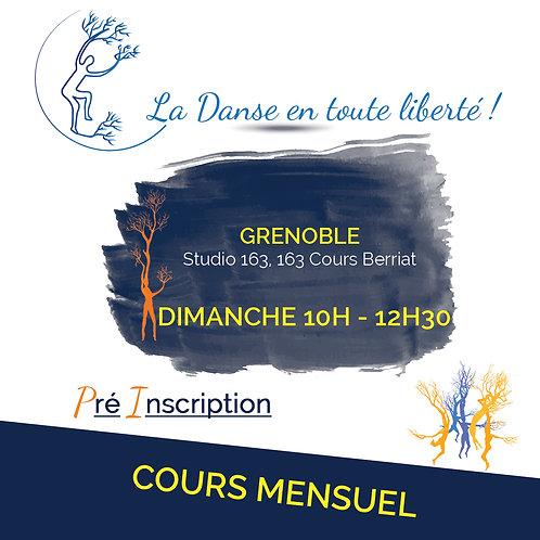 Pré inscription Cours Grenoble Dimanche 10H - 12H30