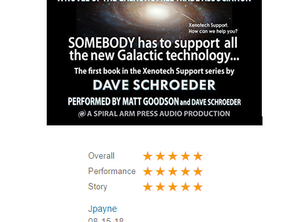 Five Stars for Xenotech Rising Audiobook!