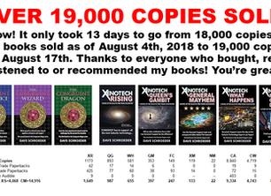 New Milestone: 19,000 books sold!