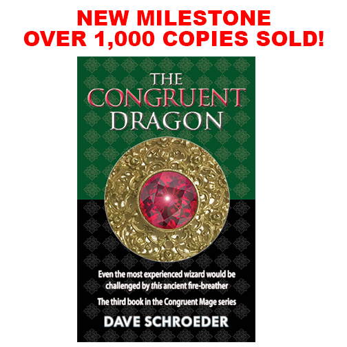 Over 1,000 copies sold of The Congruent Dragon