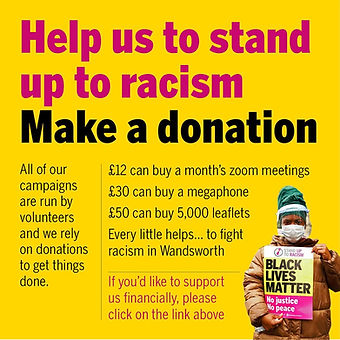Donate to Wandsworth Stand Up To Racism