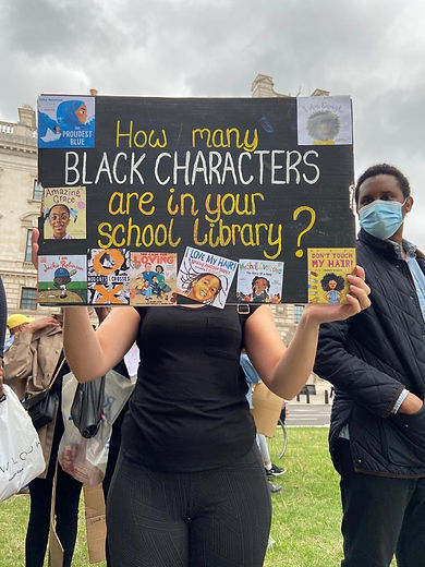 Protesters confronting systemic racism in education, as part of the Black Lives Matter movement
