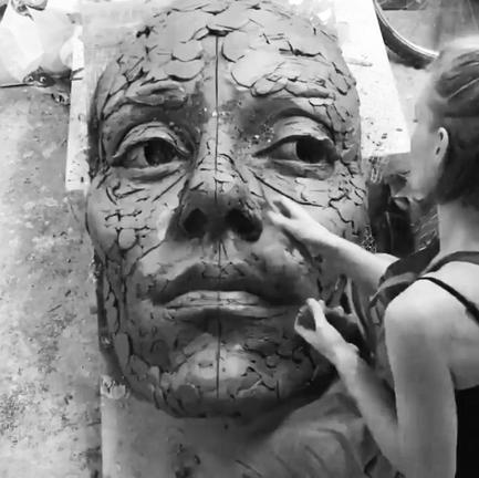 Sculpting big face