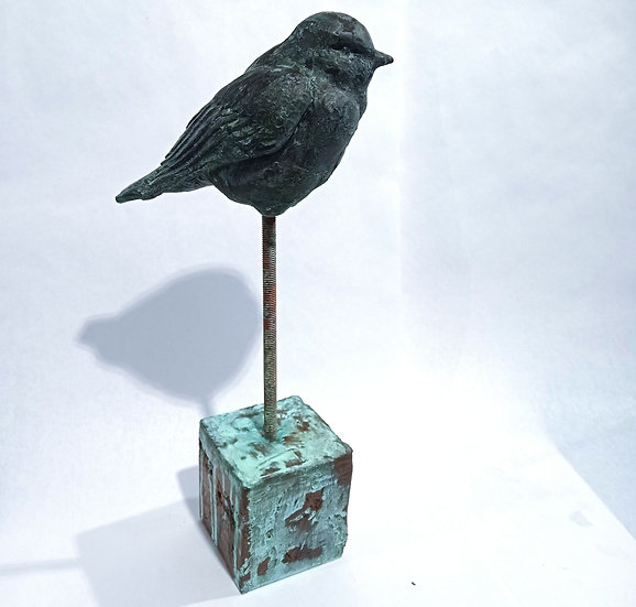 Sparrow faux bronze