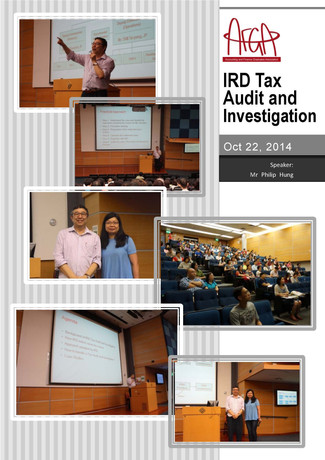 Seminar: IRD Tax Audit and Investigation