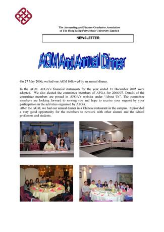 AFGA Newsletter issue 11 (Oct 2006)