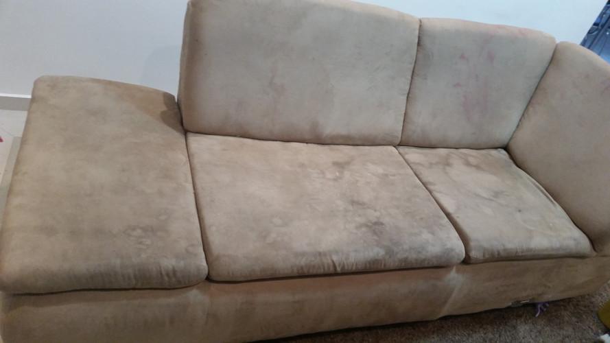 Antes o Sofa Sujo