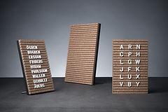 plastbokstäver  bokstavstalva  korktavla