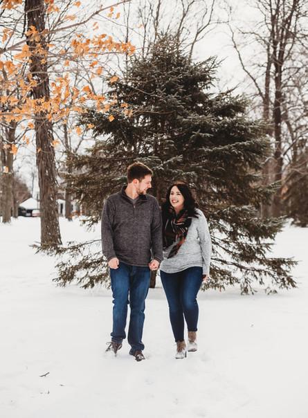 Jami + Alex | Winter Engagement Session | Neenah, Wisconsin