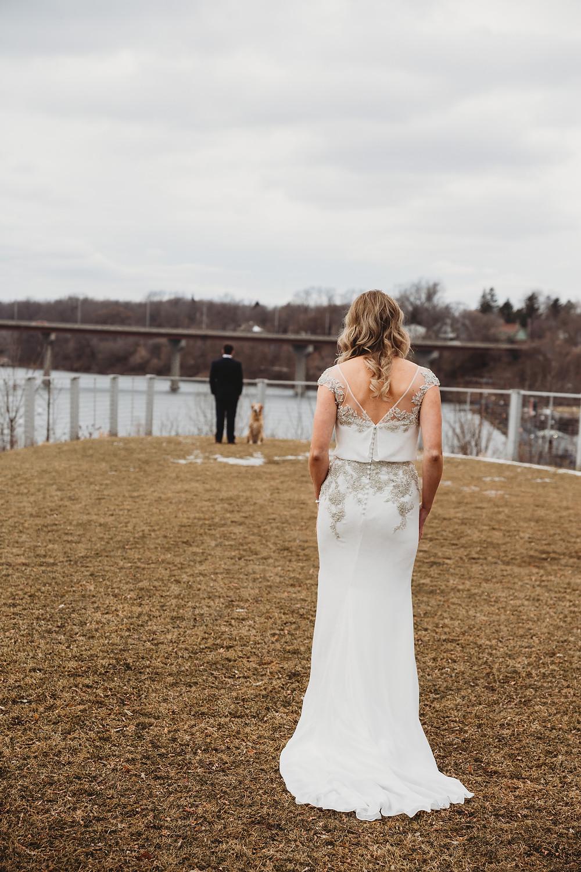 Wisconsin Winter Wedding First Look