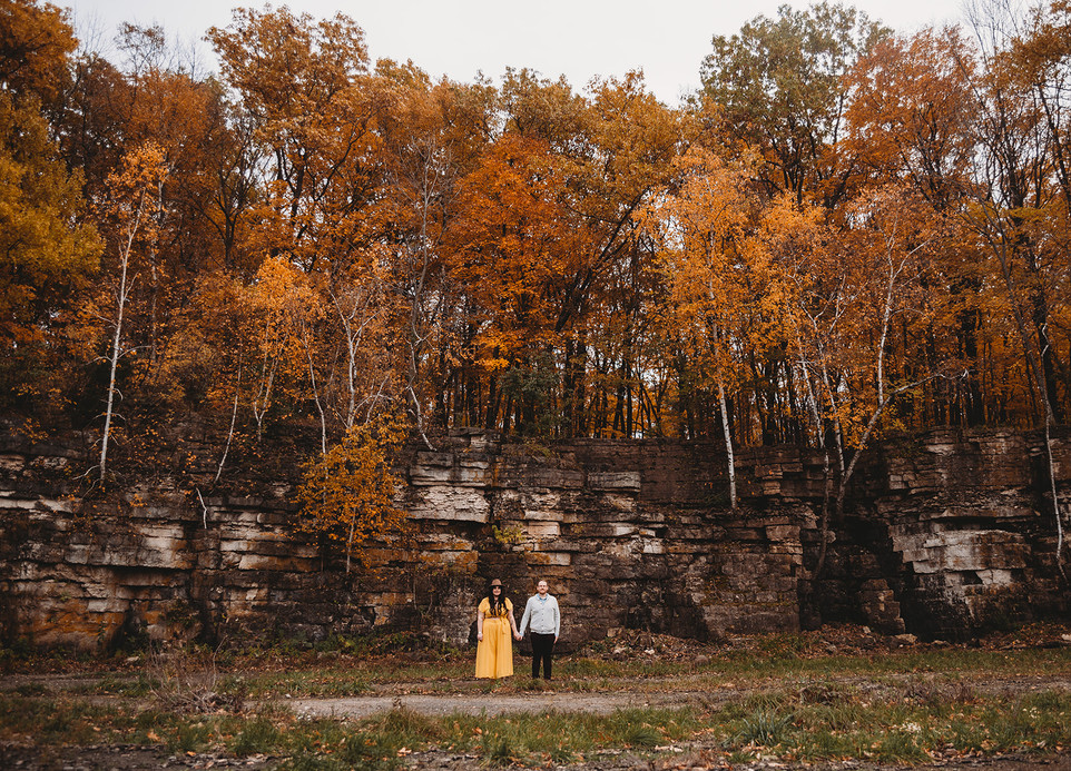 Jessica + Wade | High Cliff State Park |Fall Engagement Session