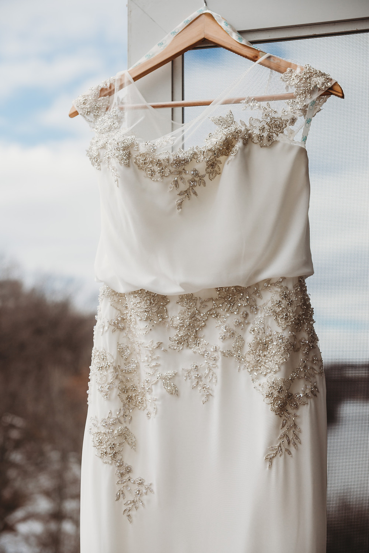 Stone Arch at Riverview Gardens Wedding | Appleton, Wisconsin Wedding Gown Erikas Bridal