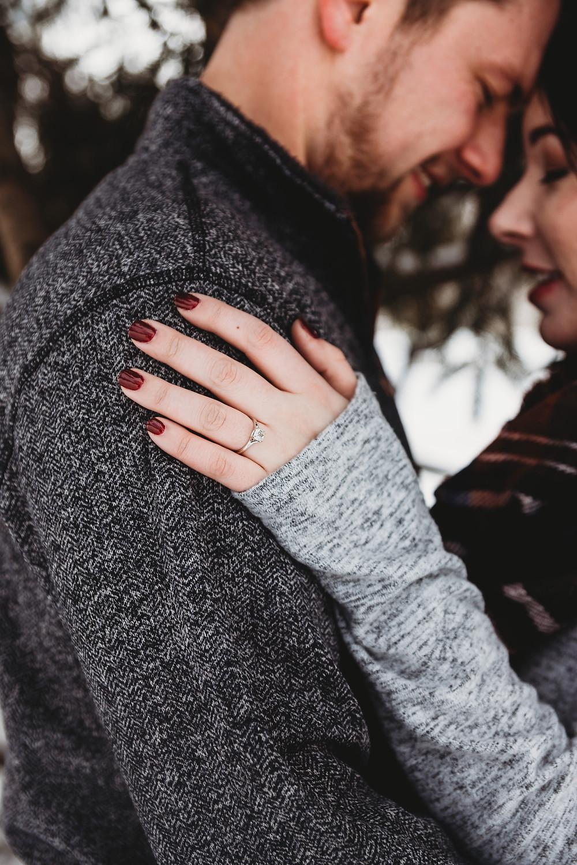 winter engagement photos neenah wisconsin