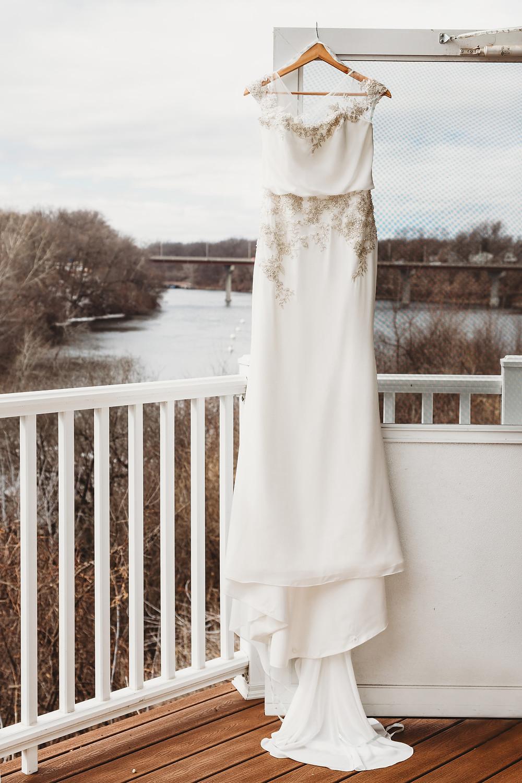 Stone Arch at Riverview Gardens Wedding | Appleton, Wisconsin Wedding Gown