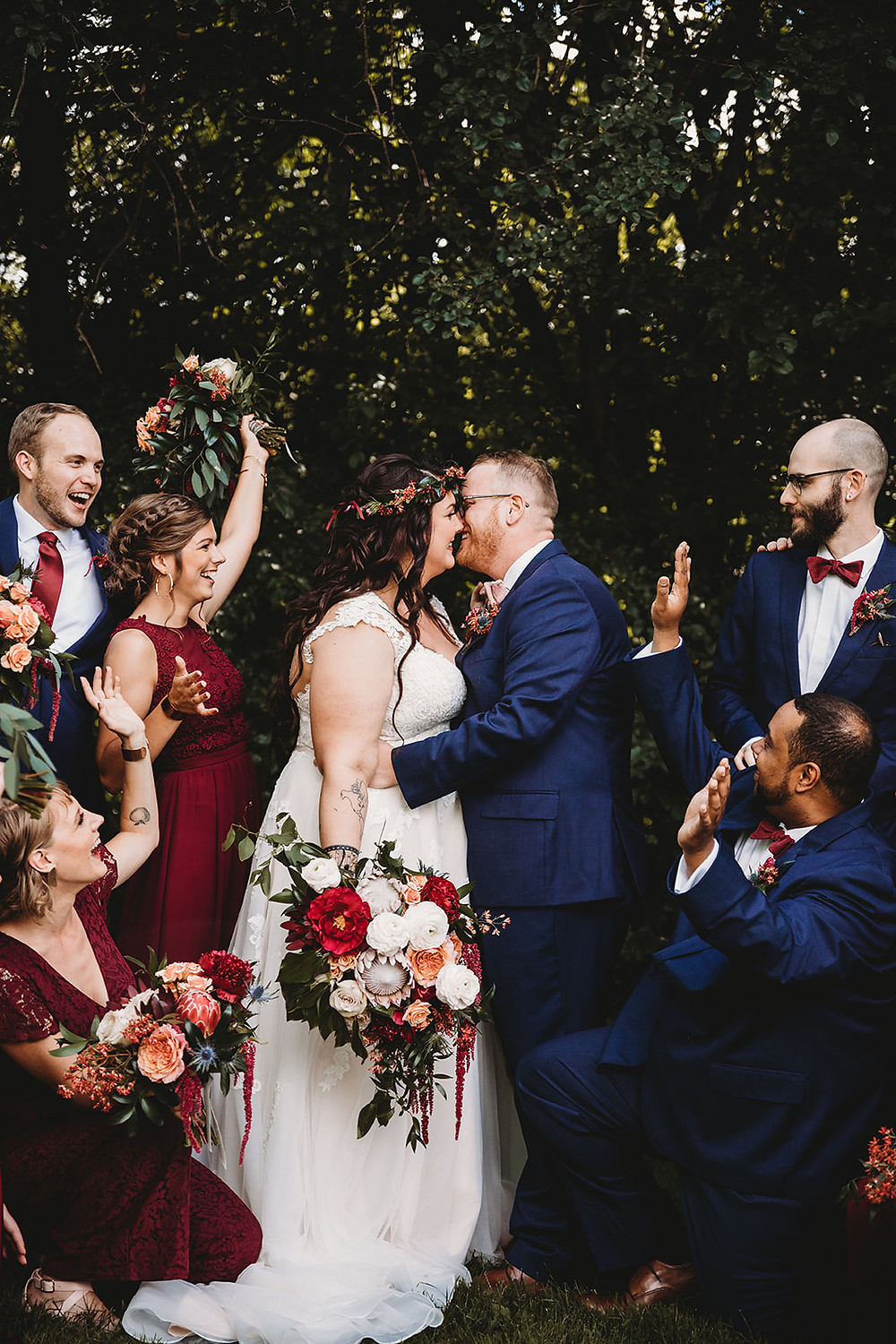 Stone Arch at Riverview Gardens Wedding ebb and flow flowers