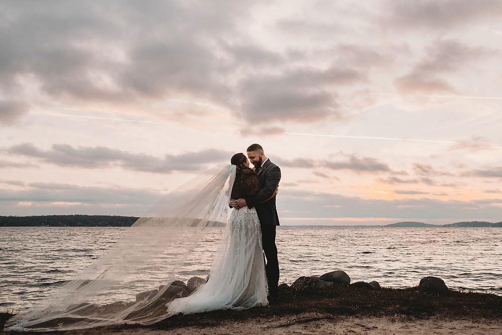 Heidel House Wedding | Green Lake, Wisconsin Sunset