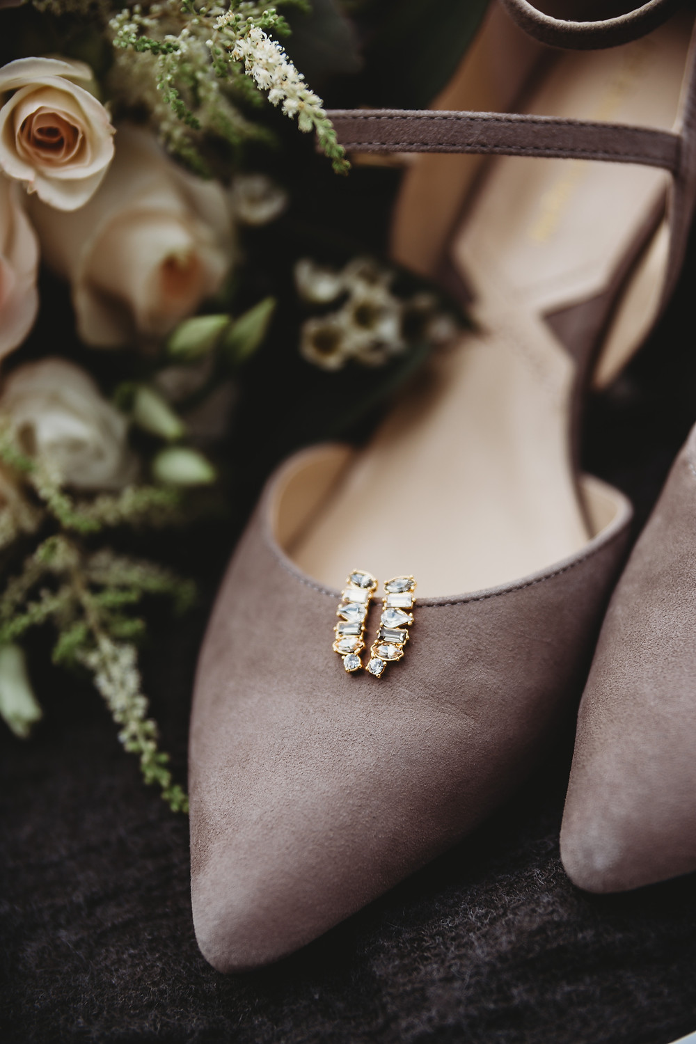 Stone Arch at Riverview Gardens Wedding | Appleton, Wisconsin Wedding Brides Shoes