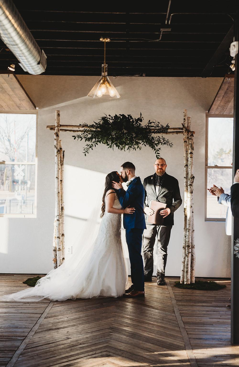 first kiss the draw wedding appleton