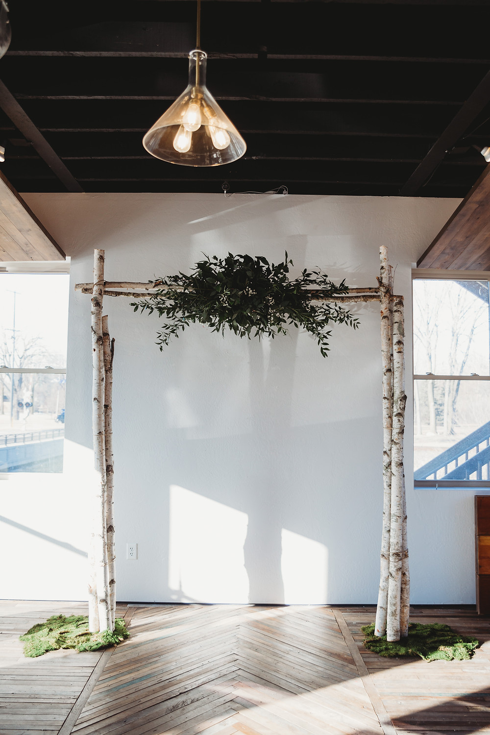wooden natural arch the draw wedding appleton