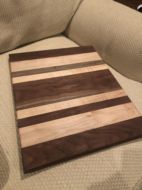 Walnut and Maple Stripes Cheese Board