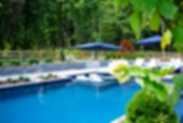 Resurfaced Swimming Pool in Ecofinish Mediterranean Blue - Polytherm