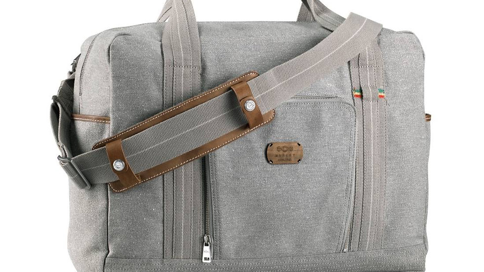 Lively Up Leather Overnighter - Saddle - Grau