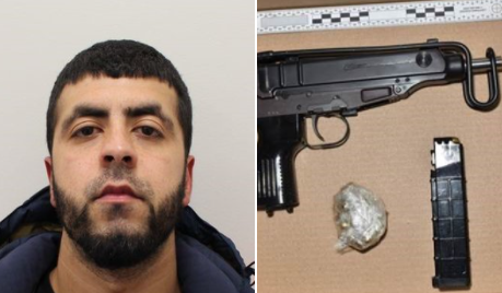 ARMED & DANGEROUS: Drug supplier caught with machine gun jailed but likely to be out in four years