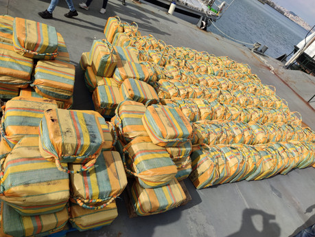 More than 5 tonnes of cocaine seized after being found on yacht in Atlantic off Portugal