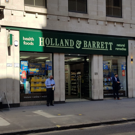 MAN stole high-strength supplements from Holland & Barrett