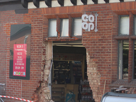 Huge hole smashed in Co-op store by ram raiders who took cash machine