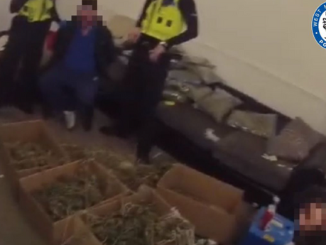 Five Albanians charged with firearms and drug cultivation offences after 'cannabis factory' raid