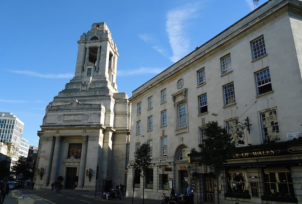 The United Grand Lodge of England in Holborn