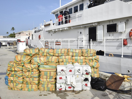 Huge 1.7 tonne haul of cocaine seized on ship in Caribbean by Royal Navy and Royal Marines