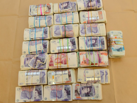 Thousands of pounds seized by Met Police in counter terrorism probe