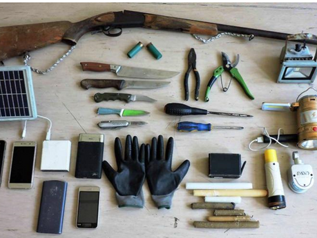 UK EXCLUSIVE: Shotgun and knives in sophisticated survival kit found near cliff where Beast of Kavos