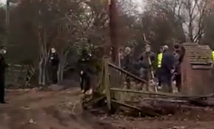 WATCH VIDEO: Footage of 'outrageous' illegal traveller site developed over weekend at Hovefields
