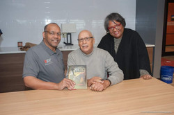 Members with their signed copy of The Bl