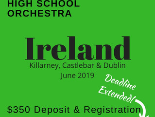 Reserve your ticket to Ireland!