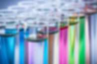 coloured test tubes