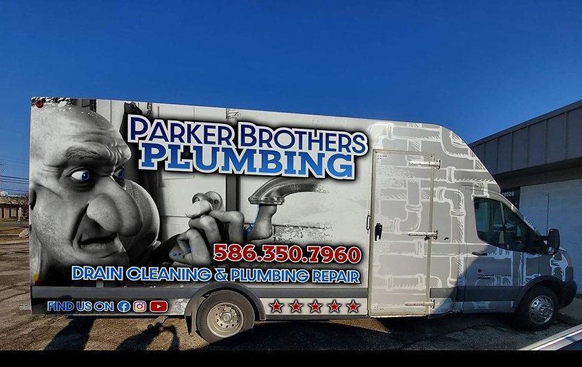 Parker brothers plumbing truck