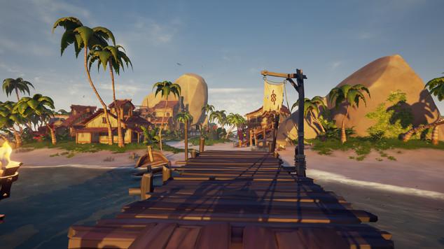L'avant poste, une zone neutre où pirates se doivent normalement le respect, enfin ça reste des pirates