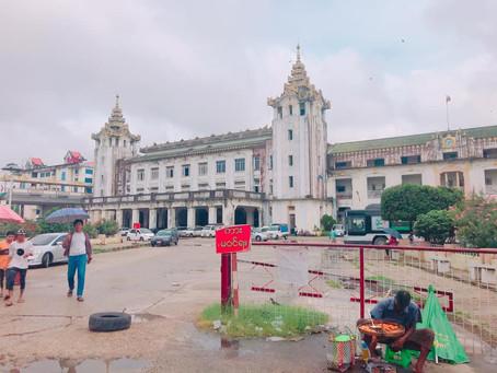 ヤンゴンで電車🚃に乗ってみよう