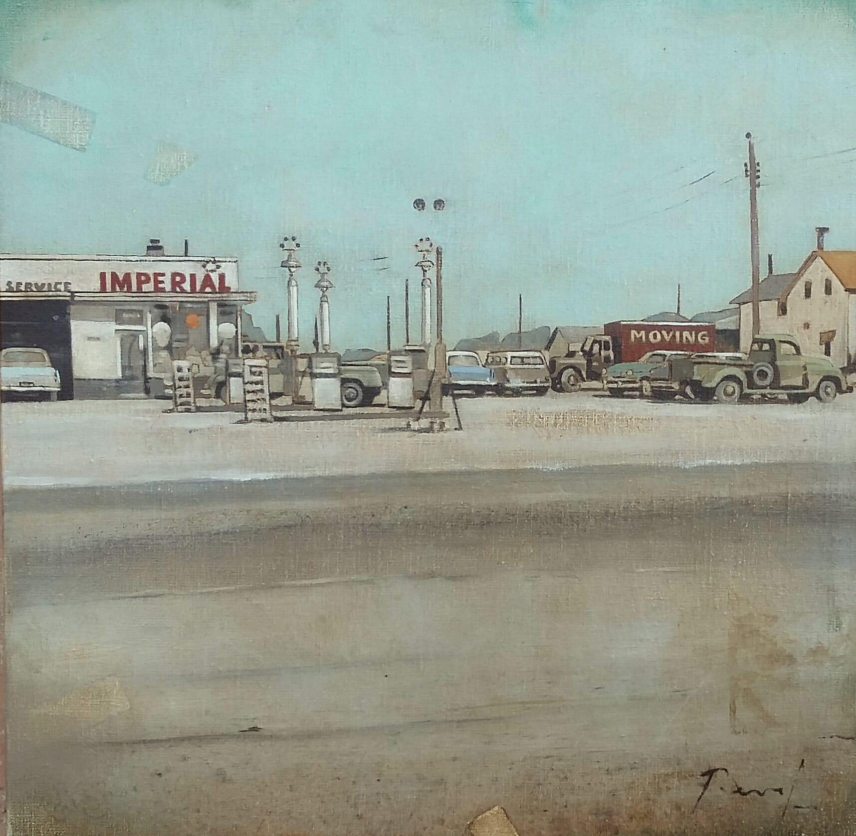 Imperial, huile sur toile 40x40cm