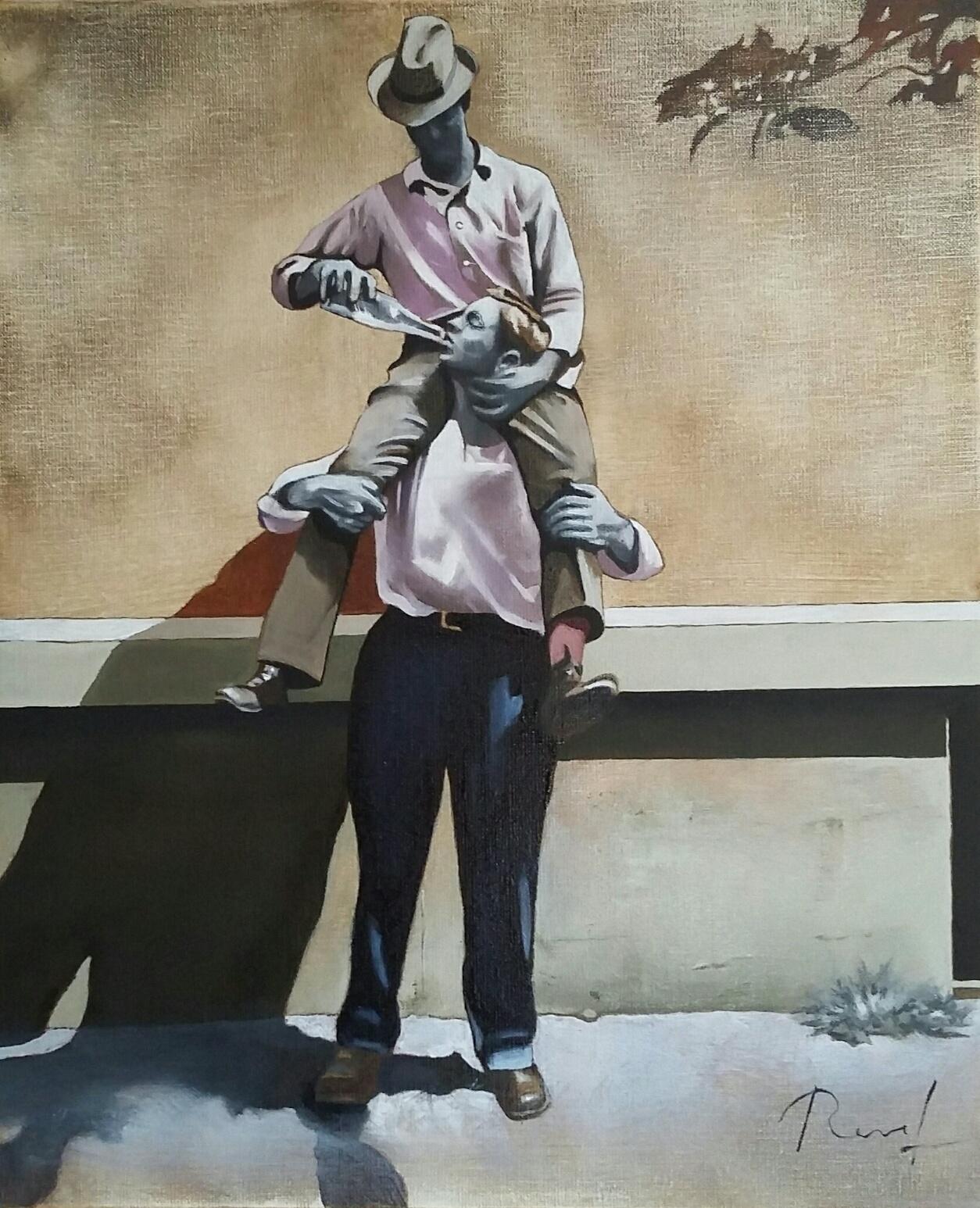 Grand soif - Huile sur toile 46x38cm
