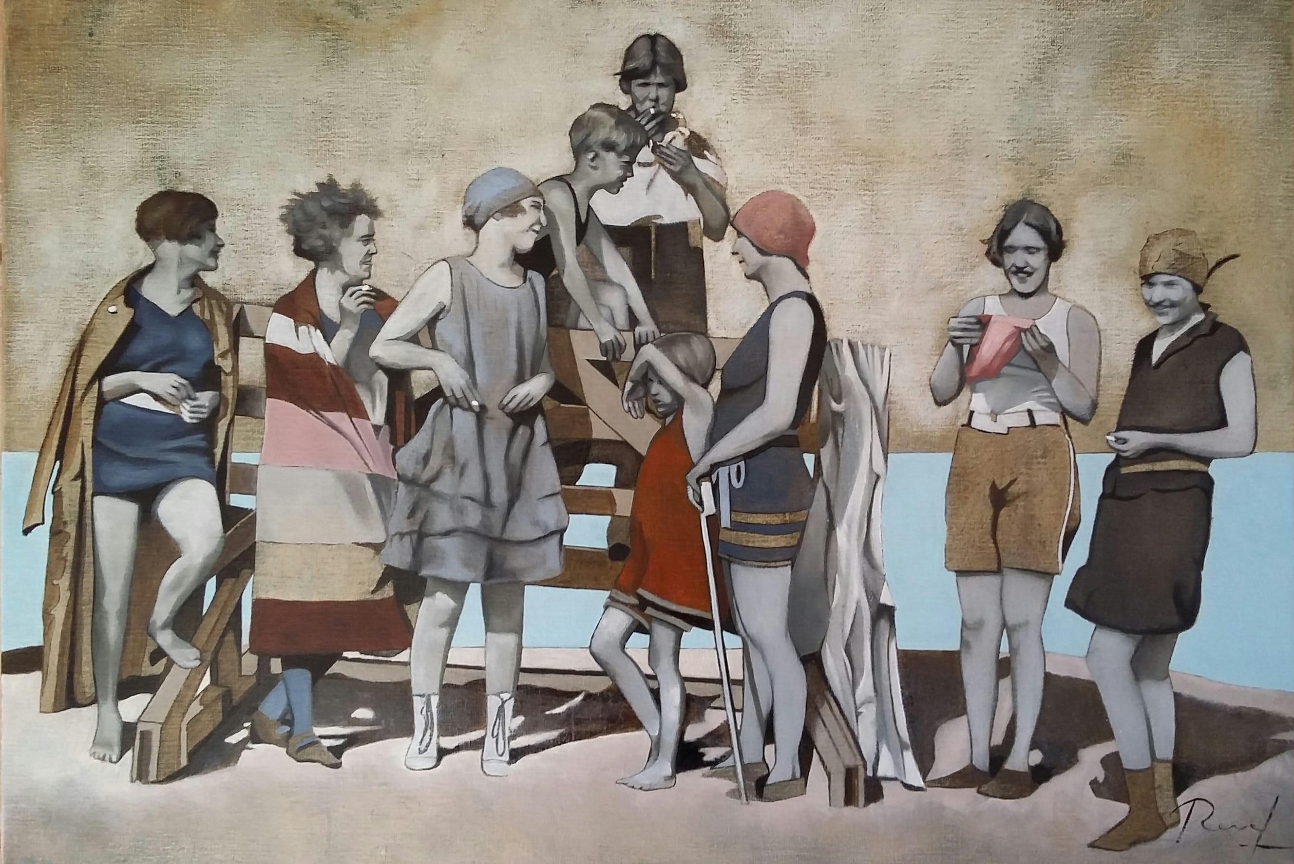 Négociation - Huile sur toile 73x50cm