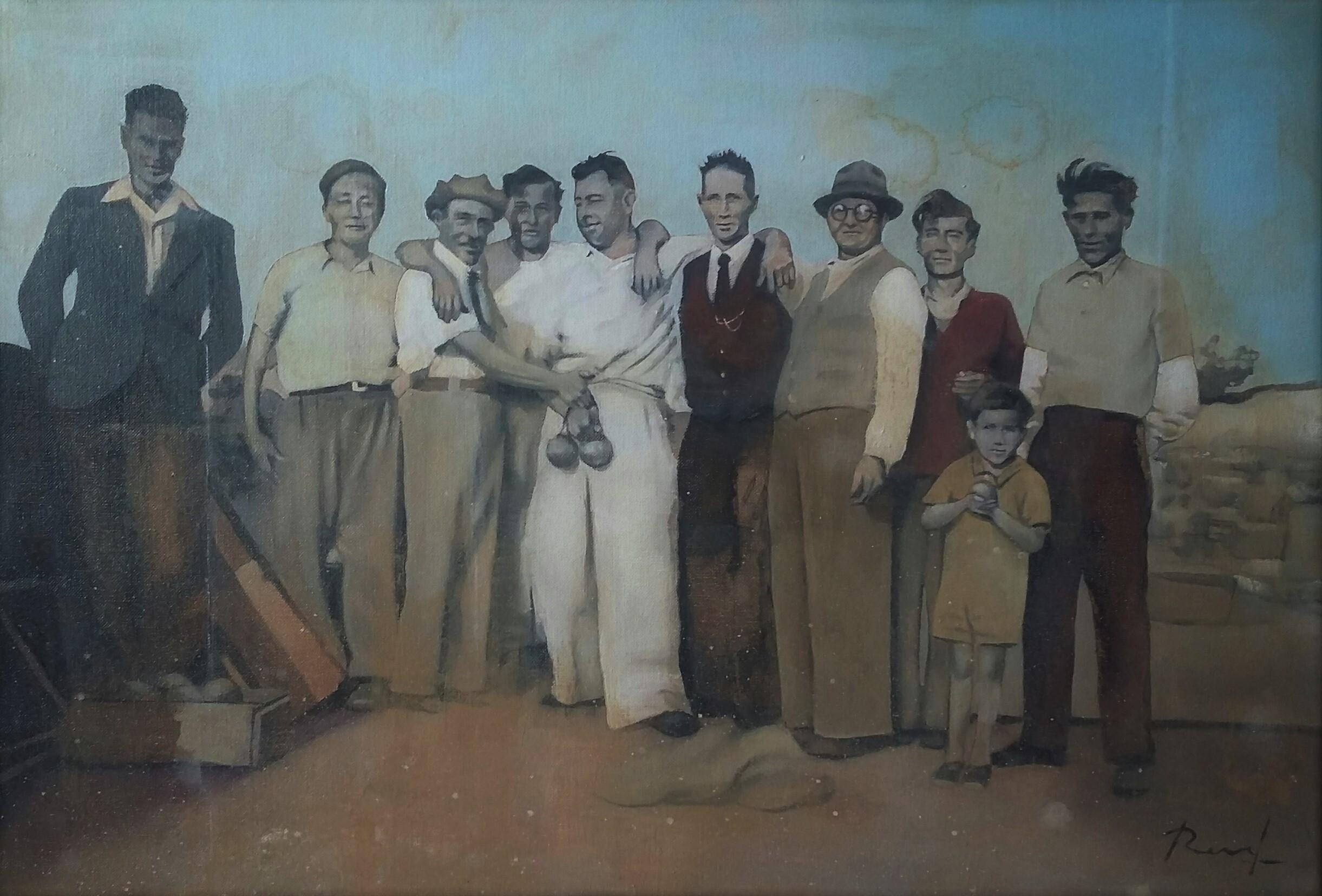 Les boules - Huile sur toile 50x73cm