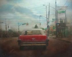 """""""Crossroads"""" - Huile sur toile 100x81cm"""