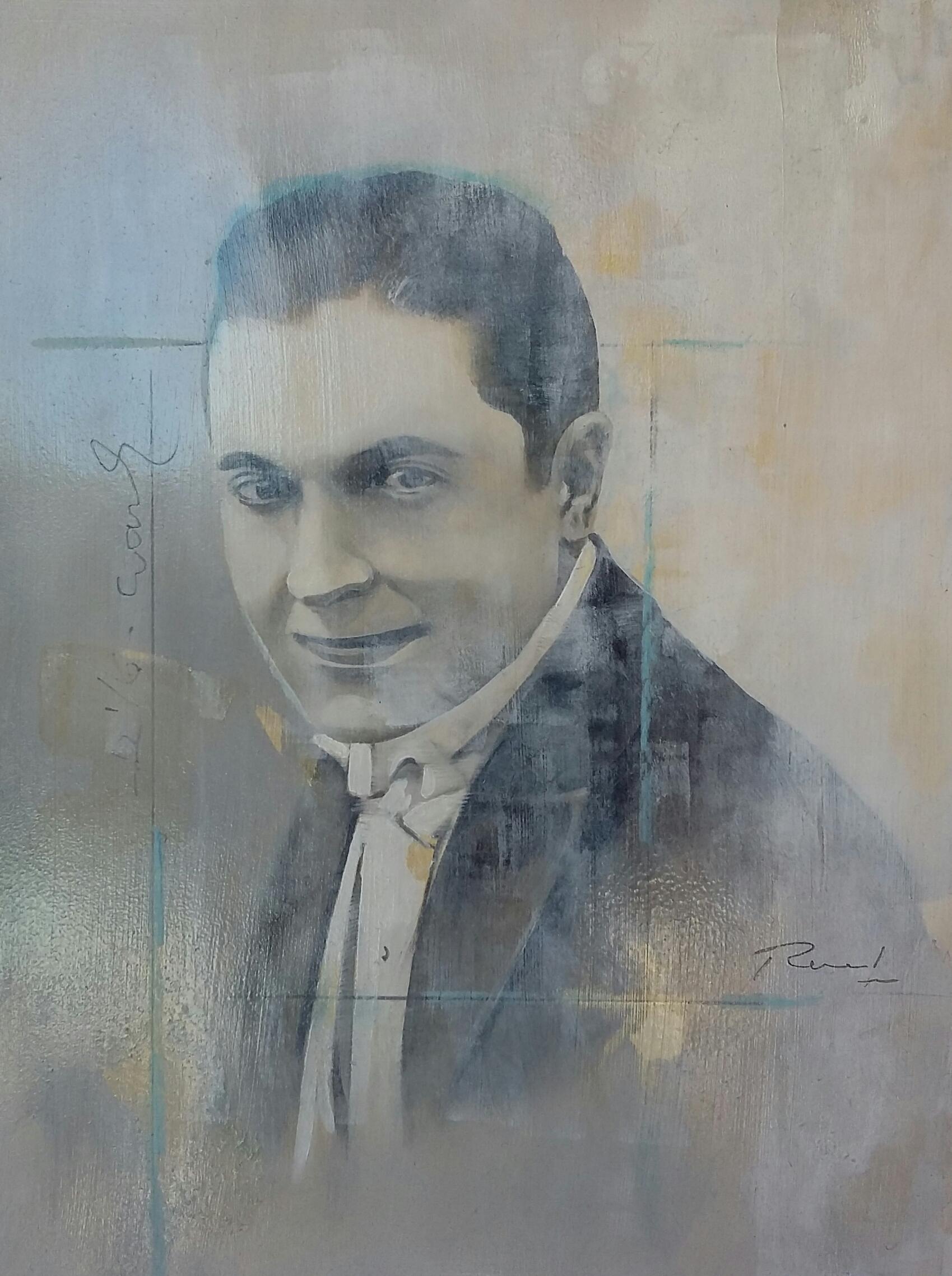 The actor, 30x20, huile sur bois